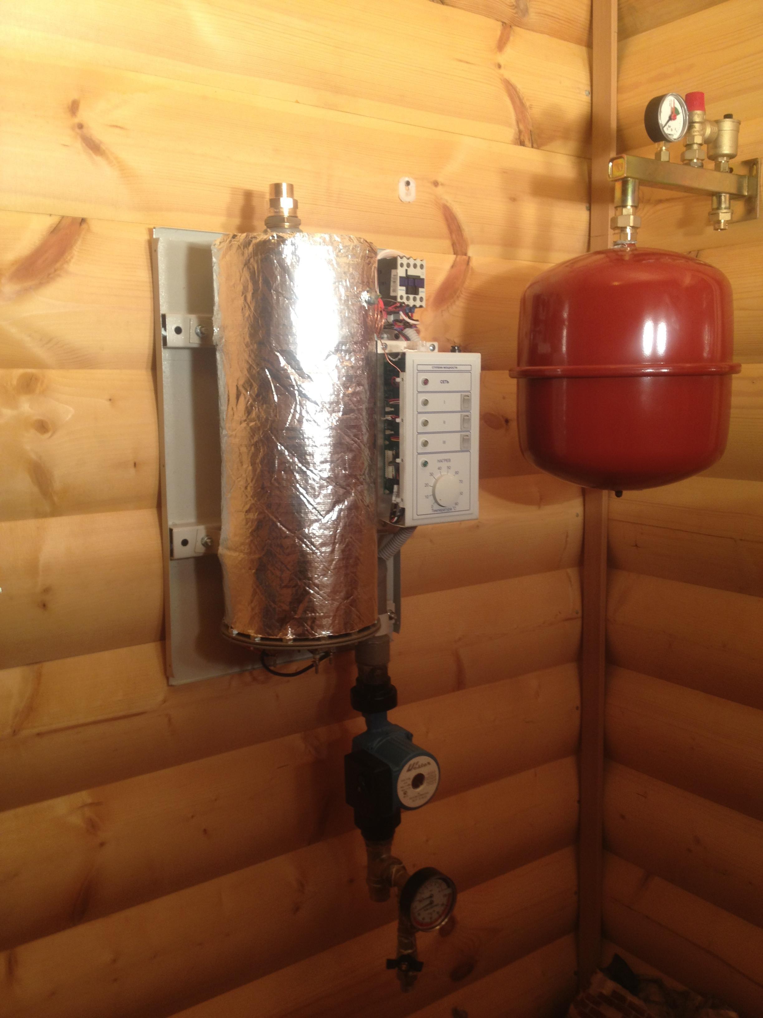 схема установки электрокотла в систему отопления