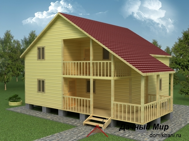 Деревянный дом 9x11, проект, планировка, цена