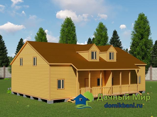 Дом 12x17 на две семьи, проект, план, цена