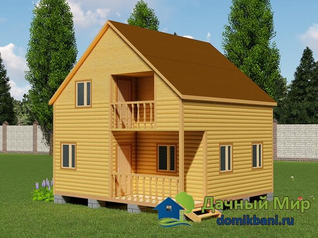 Двухэтажный дом 7х7, проект, план, цена