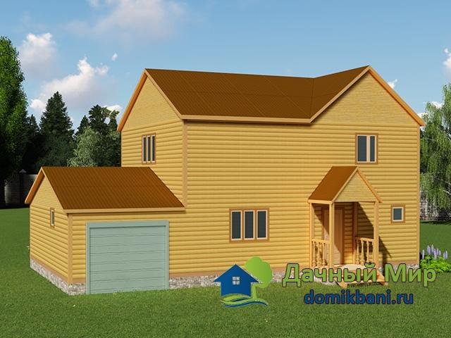 Двухэтажный дом 9x14 с гаражом, проекты, цены, фото