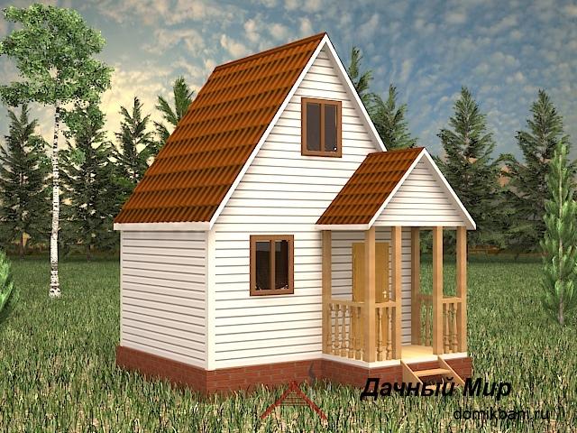 Каркасный дом 5×4 с ценой