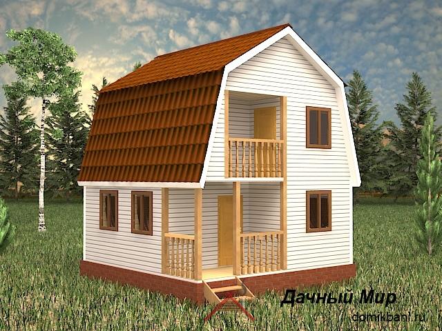 Каркасный дом 6×6 - проект, цена, планировка