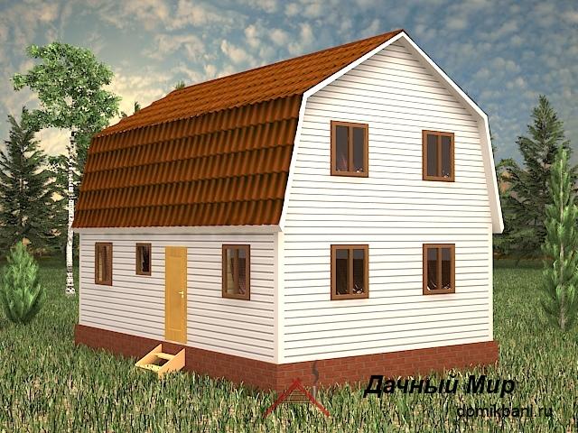 Каркасный дом 6×9 - проект, планировка, цена