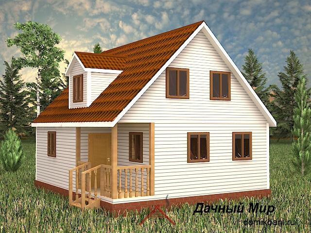 Каркасный дом 8x8 - проект, цена, планировка