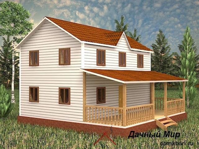 Каркасно-щитовой дом зимний