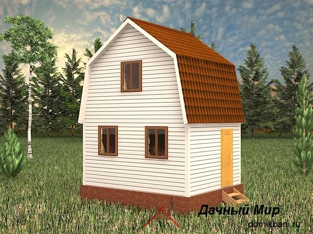 Щитовой дом 4х5 - проект небольшого щитового дома