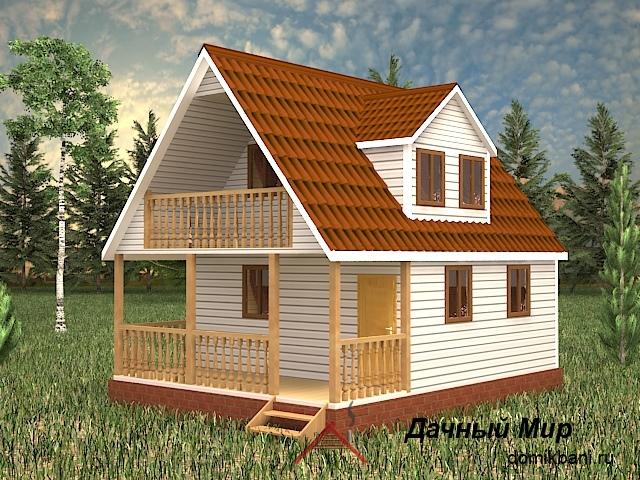 Щитовой дом 6×8 - проект, планировка, цена