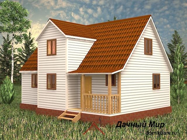 Щитовой дом 7x10 - проект щитового дома 7x10