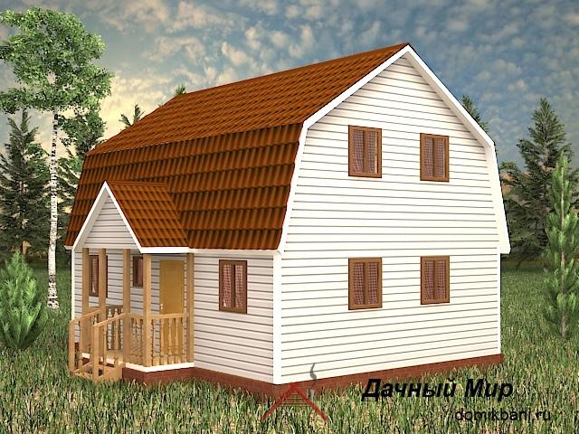 Щитовой дом 7x9, планировка щитового дома