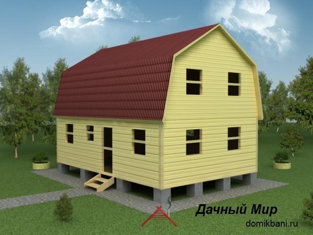 Сруб дома 6х9, проект, планировка, цена сруба