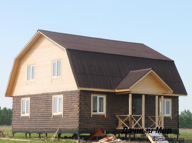 Строительство дома из бруса в Мытищах - фото дома, отделка
