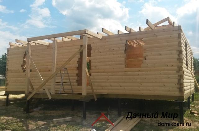 Строительство сруба из бруса в Лотошине и районе