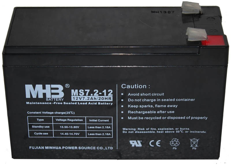 Аккумулятор MHB MS 7,2-12