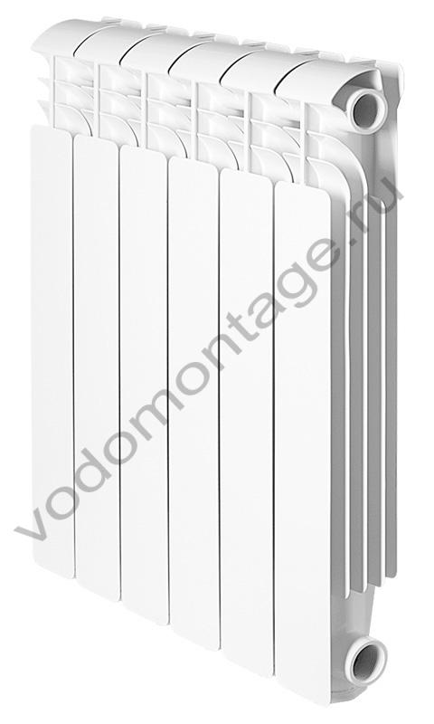 Алюминиевый секционный радиатор GLOBAL ISEO 500 (1 секция) - купить по низкой цене в Москве. Оборудование для отопления в наличии, скидки на монтаж и установку. Фото, описание, характеристики, стоимость, подбор и доставка оборудования