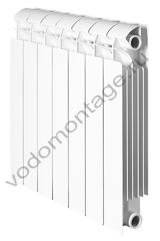 Биметаллический радиатор Global STYLE EXTRA 500 (1 секция) - купить по низкой цене в Москве. Оборудование для отопления в наличии, скидки на монтаж и установку. Фото, описание, характеристики, стоимость, подбор и доставка оборудования