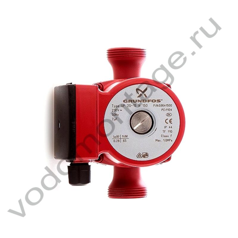 Циркуляционный насос для системы ГВС Grundfos UP 20-15 N - купить по низкой цене в Москве. Оборудование для отопления в наличии, скидки на монтаж и установку. Фото, описание, характеристики, стоимость, подбор и доставка оборудования