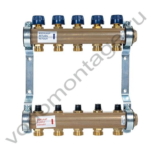 Коллектор для теплых полов Watts HKV-2 - купить по низкой цене в Москве. Оборудование для отопления в наличии, скидки на монтаж и установку. Фото, описание, характеристики, стоимость, подбор и доставка оборудования