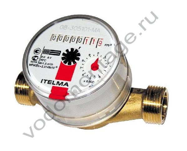 Счетчик горячей воды ITELMA WFW20.D080 - купить по низкой цене в Москве. Оборудование для отопления в наличии, скидки на монтаж и установку. Фото, описание, характеристики, стоимость, подбор и доставка оборудования